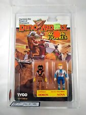 1987 TYCO DINO RIDERS 2 PACK DEMON & NOVA MOSC UKG GRADED 75 - AFA SEALED FIGURE