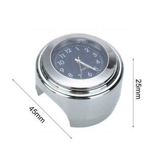 Handlebar Motorcycle Clock Motorbike Dial Mount Watch x1 Waterproof Clock I2V0