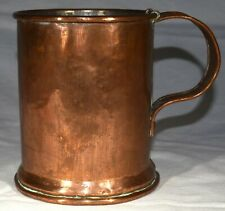 """Vintage Copper Tankard Holds 36 ounces 5 1/2"""" tall, 4 3/4"""" in diam 1 lb 7 oz"""