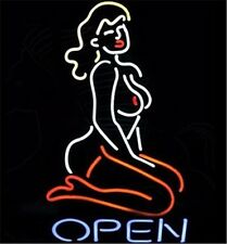 Open Live Nudes Neon Sign Light Beer Bar Pub Wall Poster17''x14""