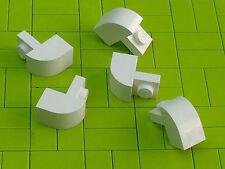 NEW LEGO BRICKS - 20 x White Brick Modified 1 x 2 x 1 1/3 with Curved Top 6091 -