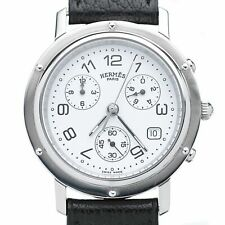 Hermes Clipper Chronograph Watch.  Stainless Steel Case Automatic Movement Herme