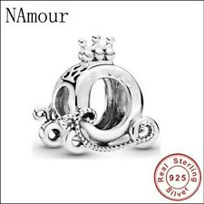 Crown  O Carriage Charm. Sterling silver. Gift. 925 jewellery