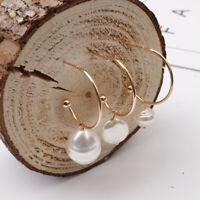Women Statement Boho Alloy Pearl Dangle Drop Earrings Fashion Jewelry