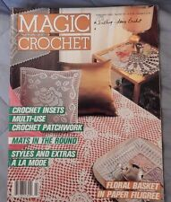 1988 Magic Crochet Doilies Table Clothes Runners Bed Covers Doily patterns more