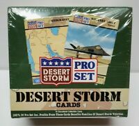 1991 Desert Storm Pro-Set Cards Box 36 Packs - Factory Sealed - New Vintage 90s