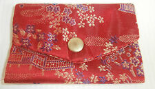 Brocade Credit Card Decorative Holder, Chinese Red. Free Delivery