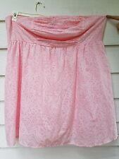 Torrid Strapless Mini Dress Sz 4X 26 Pink Summer Casual Cotton Layered Animal