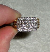 MENS WOMENS 14k YELLOW GOLD DIAMOND CLUSTER RING - 8.0 grams - Sz 10.5