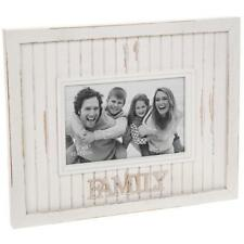Family Photo Frame - White Vintage Rustic Style With Sentiments 61472