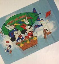 Vintage Mickey Mouse Pillow Case Standard Walt Disney Productions WDP Blimp