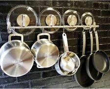 Pot And Pan Rack Hook Holder Hanging Kitchen Organizer Wall Mount Rail System