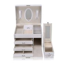 Portagioie Scatole per Gioielli Custodia Custodia box Con Specchio e 3 cassetti