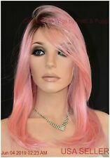 PINKY PROMISE Wig by HAIRDO Heat Friendly Fiber Tru2Life  Rooted Pink Color NEW