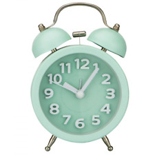"""3"""" Mini Non-ticking Vintage Classic Bedside /Table Alarm Clock with Backlight"""