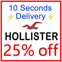 ***25% OFF*** HOLLISTER Coupon Promo Discount Code === 10 Seconds Delivery ===