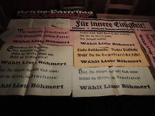 9 Wahlplakate aus Bremen von 1921 und 1930 der Deutschen Demokratische Partei