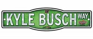 """Kyle Busch #18 NASCAR 4""""x17"""" Street Sign"""