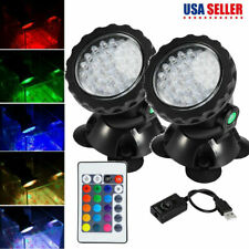 Submersible 36Led Rgb Pond Spot Lights for Underwater Pool Fountain Pond Remote