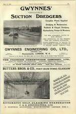 1922 Jozsef Foster Preston Boilers Gwynnes Suction Dredgers