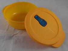 Tupperware MicroTup Crystal Wave Mikrowellengeschirr 600 ml rund Orange Neu OVP