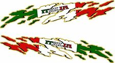 """ITALY FLAG Racing Boat Car Truck Trailer Graphics Decals Stickers Wrap 2- 50"""""""