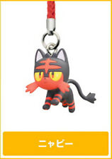 Pokemon Litten Sun & Moon Netsuke Mascot Strap Cell Phone Capsule Figurine Toy