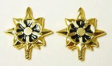 Classic Battlestar Galactica Viper Pilot Gold Toned Collar Pips Pin Set of 2 New