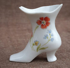 Vintage Miniature Shoe Transferware Porcelain Flower