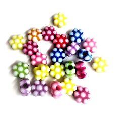 100 x 12 mm miste a forma di fiore Pony beads, Manichino Clip, Perline Craft