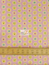 SWEET HOME PINK BY MELLY AND ME FOR RILEY BLAKE 100% COTTON FABRIC FH-1621