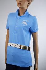 Ralph Lauren Light Blue Big Pony Match Polo Shirt White Big Ponies Large NWT
