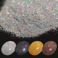 7g Holographicss Laser Glitter Powder Nail Art Shining Gold Silver Black Coffee