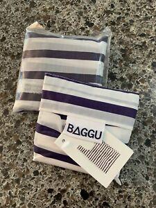 2 Pack! NEW BABY BAGGU SAILOR STRIPE REUSABLE BAGS