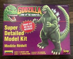 """Lindberg Snap Fit Godzilla King of Monsters 12"""" Scale 1995 Model Kit 71344"""