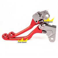 CNC Pivot Dirt Bike Brake Clutch Levers For Honda Yamaha Kawasaki Suzuki KTM Set