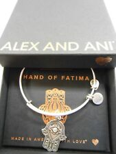 Alex and Ani HAND OF FATIMA III Expandable Wire Bracelet Rafaelian Silver NWTBC