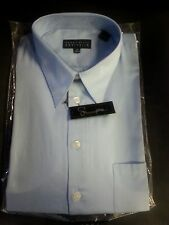 NWT Perri Ellis Portofolio Dress Shirt Harbor Blue Supina USA Cotton  16  34-35