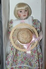 "Porcelain Doll ""Mary Beth"" by Artist Pauline Bjonness-Jacobsen Le with Box Doll"