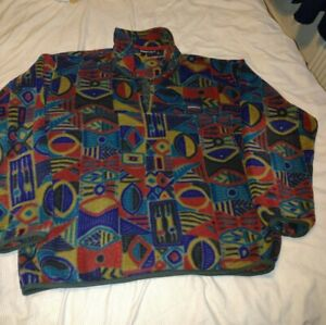Mens Vintage 1997 Patagonia Synchilla T-Snap Made in USA Pullover Fleece XL Top
