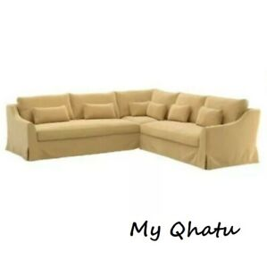 IKEA FARLOV Cover for 5-seat sectional sofa Left Djuparp Yellow Beige 003.066.75