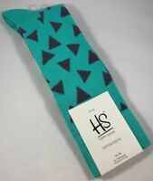 MEN'S HAPPY SOCKS BRIGHT TRIANGLE PATTERN DRESS SIZE 10-13 CREW SOCKS NWT