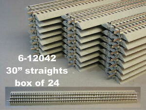 Lionel 6-12042 FasTrack 30 Inch Straight Track Section (24) Used perfect