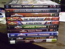 (10) Mighty Morphin Power Rangers DVD Lot: (2) Movies RPM SPD Dino Thunder  MORE
