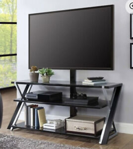 """TV Stand for TVs up to 70"""" Whalen Xavier- One Glass Broken"""
