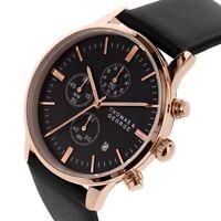 Men's Chronograph Watch  Black Leather Straps - Kingman 43