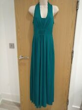 Ladies evening maxi dress, size 10, colour jade, good quality heavy material