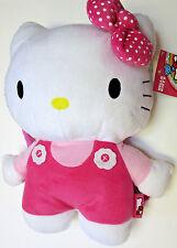 "Hello Kitty Pink Plush Backpack Purse New 15"" Sanrio Handbag Girls NWT"