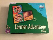 RARE Carmen Advantage Library CARMEN SANDIEGO PC CD-ROM Broderbund