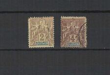 DAHOMET  2 timbres anciens oblitérés  /T1286